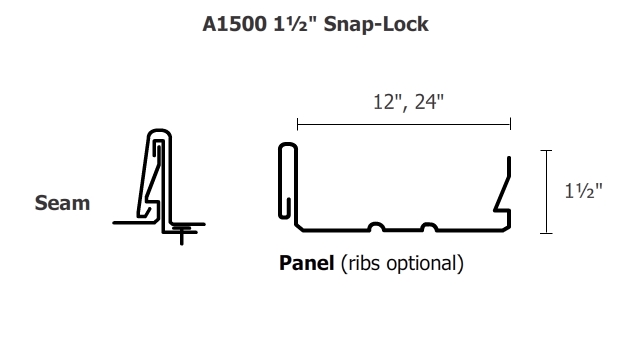 A1500 1 1 2 Quot Integral Snap Lock Panel Architectural